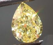 1.20ct Fancy Yellow SI1 Pear Shape Diamond R8403