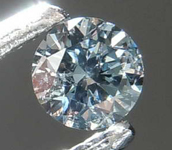 0.06ct Fancy Grayish Blue SI2 Round Diamond R8411