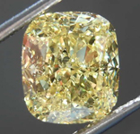 2.50ct Intense Yellow SI2 Cushion Cut Diamond R8414