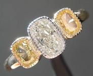 SOLD....0.63ct M SI2 Cushion Cut Diamond Ring R8390