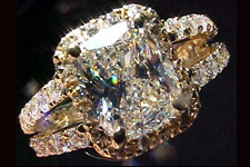 SOLD.....Halo Ring:GIA 1.51ct L/SI1 Cushion Cut Diamond Halo Ring R1379