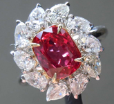 2.04ct Cushion Mixed Cut Ruby Ring R8427