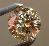 0.44ct Yellow Brown SI2 Round Brilliant Diamond R6403