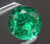 0.46ct Round Mixed Cut Emerald R8458