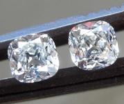 0.64ctw H VS1-SI1 Old Mine Brilliant Diamond Earrings R8417