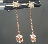 0.55ctw Yellow and Brown Diamond Earrings R7714