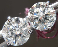 2.10ctw G SI3 Round Brilliant Diamond Earrings R8461