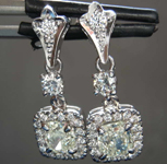 1.52cts W-X VS2 Cushion Cut Diamond Earrings R8210