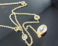 0.87ctw Yellow Assorted Rose Cut Diamond Necklace R8344