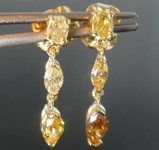 0.73ctw Yellow Diamond Dangle Earrings R8433