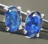 0.67ctw Blue Oval Sapphire Earrings R7732
