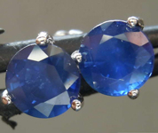 1.82ctw Blue Round Brilliant Sapphire Earrings R7342