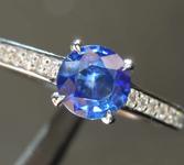 0.66ct Blue Round Brilliant Sapphire Ring R8480