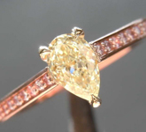 0.48ct Y-Z SI2 Pear Shape Diamond Ring R8498