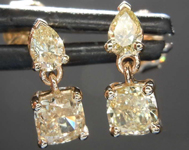 SOLD.....1.11ctw Yellow Diamond Dangle Earrings R8512