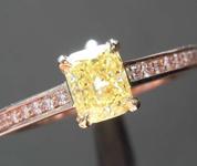 0.55ct Yellow I1 Radiant Cut Diamond Ring R8531