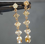0.83ctw Yellow Round and Oval Diamond Earrings R8545