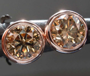 SOLD...1.25ctw Brown SI2 Round Brilliant Diamond Earrings R8205