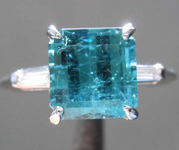 2.82ct Blue Emerald Cut Topaz Ring R8373
