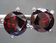6.05ctw Round Garnet Earrings R8520