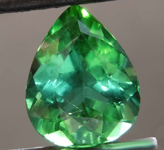 SOLD....3.18ct Green Pear Shape Paraiba Tourmaline R8579