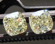 SOLD....2.02ctw Y-Z VS1 Cushion Cut Diamond Earrings R8581