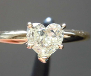SOLD....0.63ct Yellow VS2 Heart Shape Diamond Ring R8387