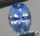 0.79ct Blue Oval Shape Sapphire R8589