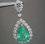 SOLD....2.28ct Pear Shape Emerald Pendant R8611