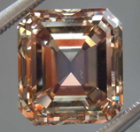 5.32ct Orangy Brown VS Emerald Cut Diamond R8613