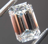 0.78ct H VS2 Emerald Cut Diamond R8606