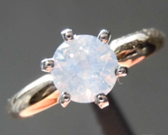 SOLD... 0.51ct Fancy White Round Brilliant Diamond Ring R8281