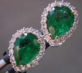 SOLD....1.86cts Pear Shape Emerald Earrings R8550