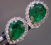 1.86cts Pear Shape Emerald Earrings R8550