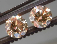 SOLD....1.14ctw Brown Round Brilliant Diamond Earrings R8637