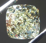 SOLD....4.01ct W-X VVS2 Cushion Cut Diamond R8297