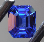 1.43ct Blue Emerald Cut Sapphire R8644