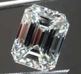 4.02ct K VVS2 Emerald Cut Diamond R8649