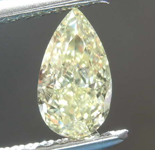 0.62ct Yellow VS1 Pear Shape Diamond R8663