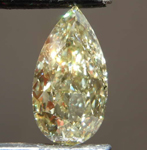 3.01ct Yellow SI2 Pear Shape Diamond R8667