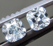 0.58ctw E VS1 Cushion Cut Diamond Earrings R8669