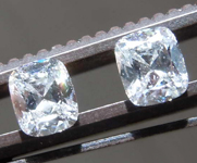 0.68ctw G SI2 Cushion Cut Diamond Earrings R8670