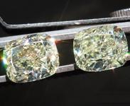 SOLD...3.00ctw W-X VS2 Cushion Cut Diamond Earrings R8692