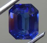 2.02ct Blue Emerald Cut Sapphire R8704