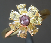 0.72ctw Pink and Yellow Diamond Ring R8646