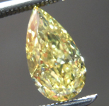 1.03ct Intense Yellow Pear Shape Diamond R8712