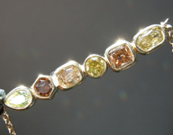 SOLD.....1.02ctw Fancy Color Mix Shape Diamond Necklace R8674