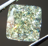 SOLD.....3.20ct Y-Z VVS2 Cushion Cut Diamond R8723