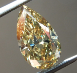 SOLD....2.00ct Brownish Yellow SI1 Pear Shape Diamond R8737