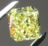 SOLD....0.87ct Vivid Yellow VVS1 Radiant Cut Diamond R8742